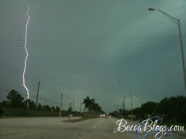 Lightning over Miami   BeccaBlogs.com