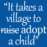 It Takes a Village to Adopt a Child | credit: Becca Fletcher